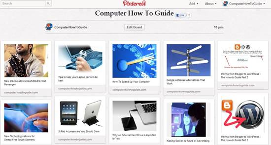 ComputerHowToGuide Pinterest Board