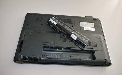 battery removed from laptop