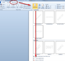 how to insert an image as a watermark in microsoft word 2010