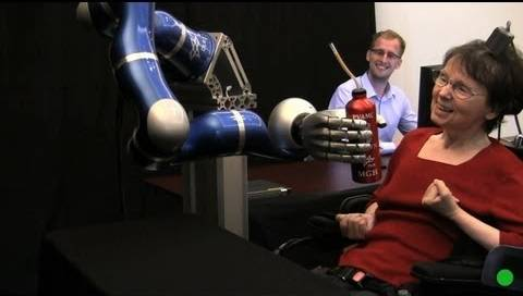 using the brain to control a robotic arm