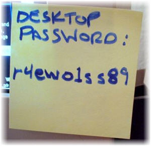 common and risky way to remember passwords