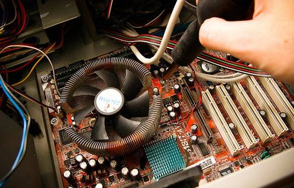 installing a motherboard