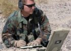 soldier with a rugged laptop