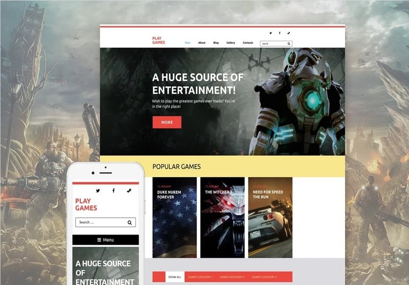 Play Games WordPress Theme