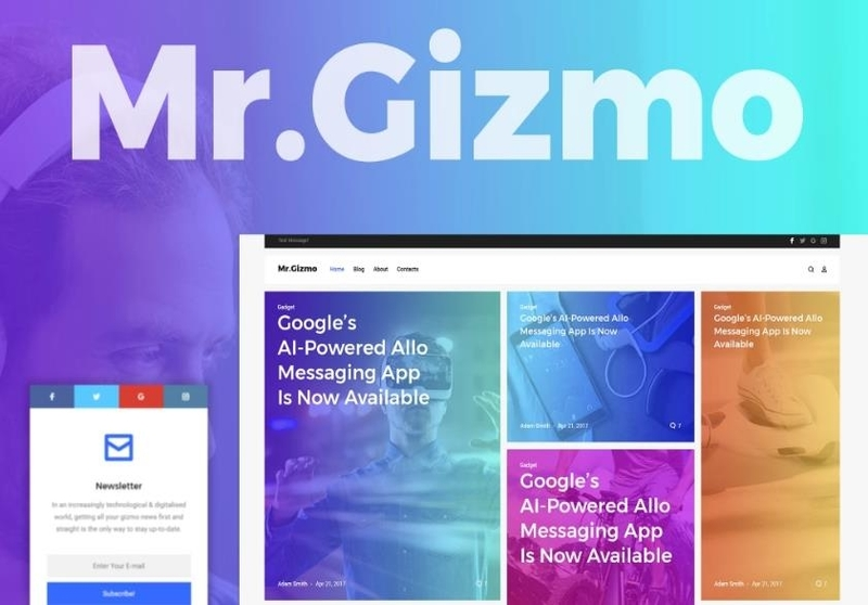 Mr. Gizmo - Responsive Technology & Gadgets Blog WordPress Theme