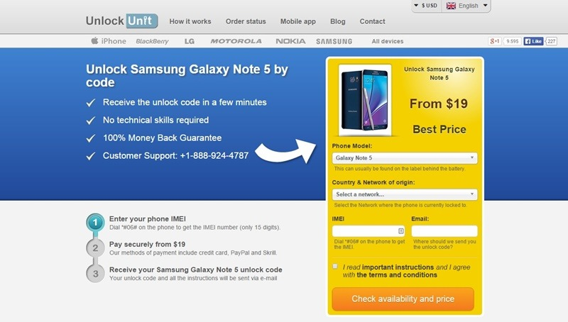How to Unlock Samsung Galaxy Note 5